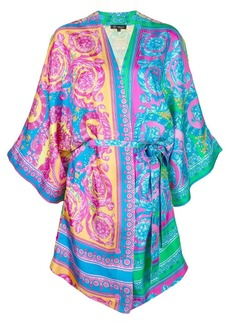 Versace dressing gown-style dress