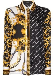 Versace dual-print buttoned shirt