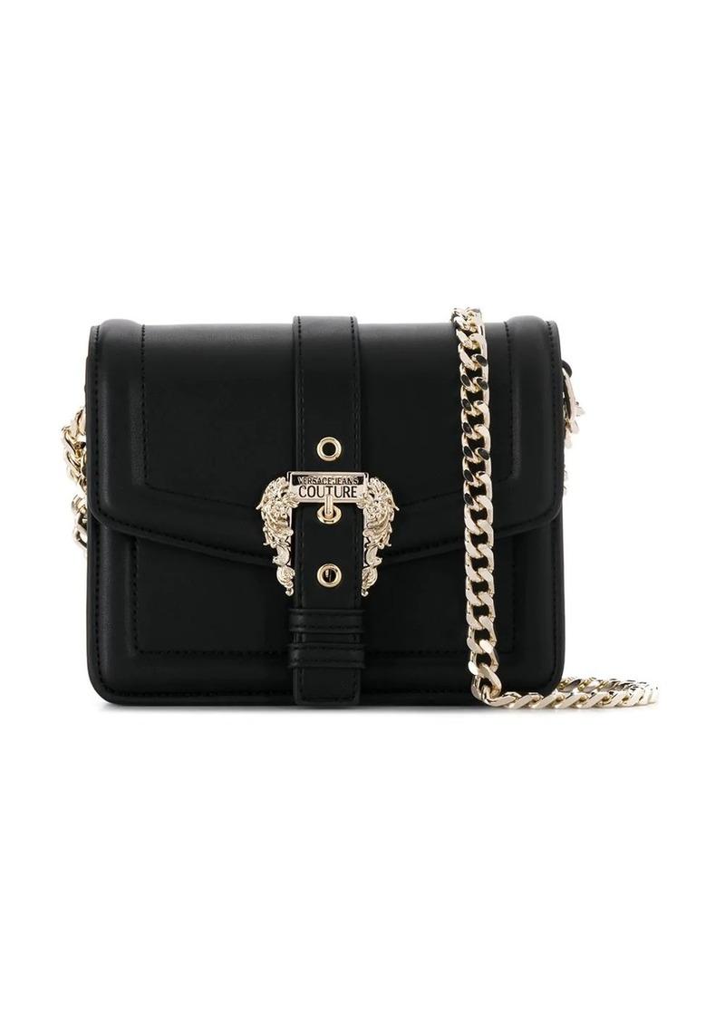 Versace embellished buckle shoulder bag