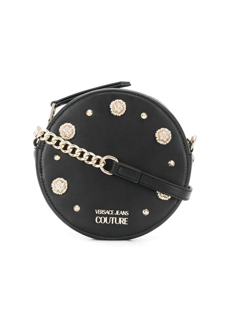 Versace embellished circle crossbody bag