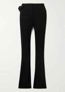 Versace Embellished Cutout Jersey Flared Pants