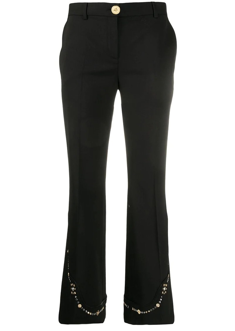 Versace embellished flare trousers