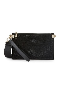 Versace Embellished Leather Pouch