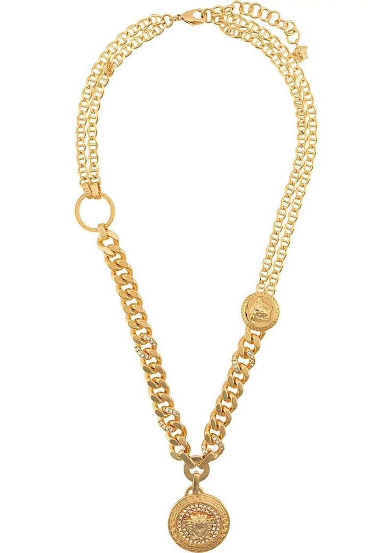 Versace embellished Medusa pendant necklace