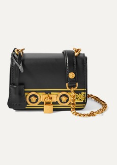 Versace Embellished Printed Leather Shoulder Bag