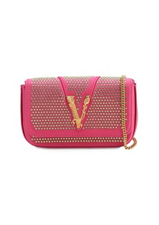 Versace Embellished Satin Shoulder Bag