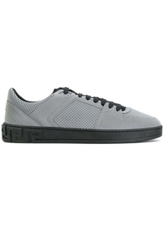 Versace embossed lace-up sneakers