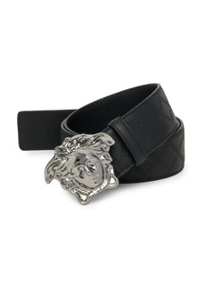 Versace Embossed Leather Belt