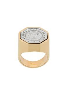 Versace embossed Medusa coin ring