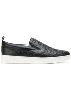 Versace embossed slip-on sneakers