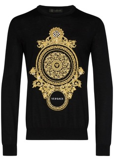 Versace embroidered baroque sweatshirt