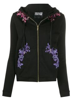 Versace embroidered drawstring hoodie