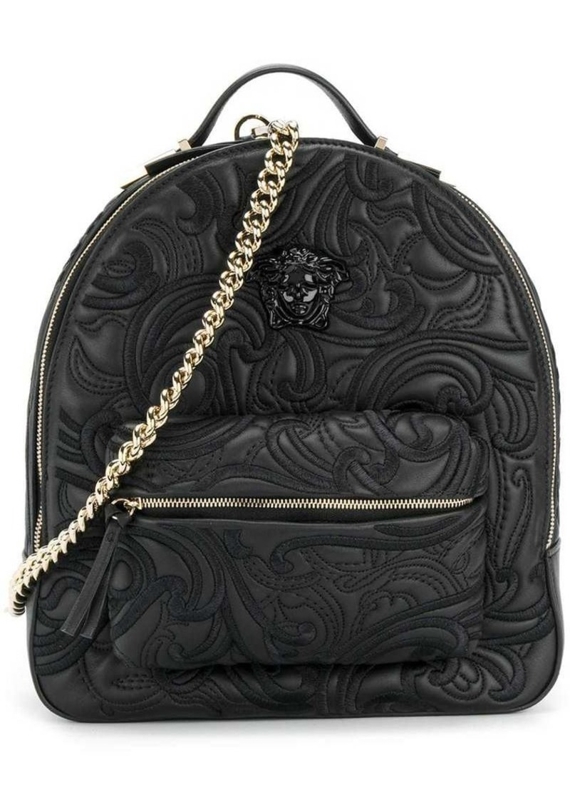 Versace embroidered embossed backpack