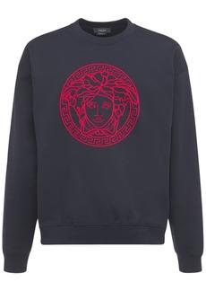Versace Embroidered Logo Crewneck Sweatshirt