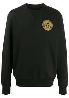 Versace embroidered logo jumper