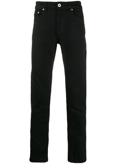 Versace embroidered logo slim-fit jeans