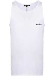 Versace embroidered logo tank top