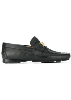Versace embroidered Medusa loafers