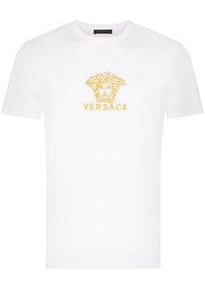 Versace embroidered medusa logo cotton T-shirt