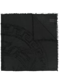 Versace embroidered Medusa logo shawl