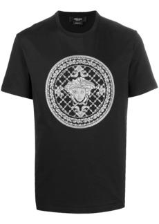 Versace embroidered Medusa motif T-shirt