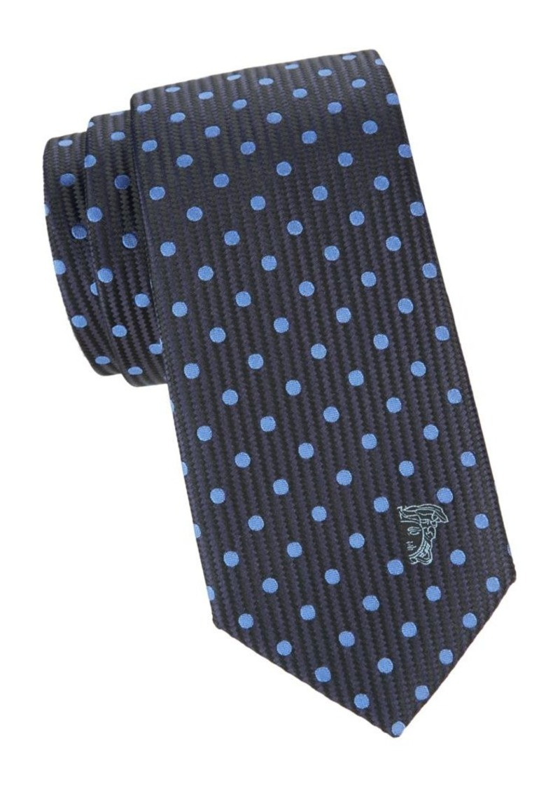 Versace Embroidered Silk Tie