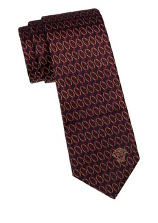 Versace Embroidered Silk Tie