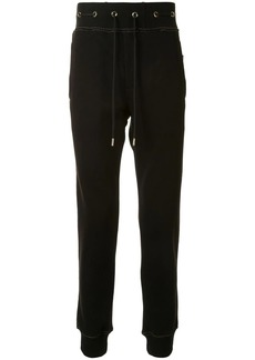 Versace eyelet detail sweatpants