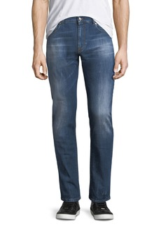 Versace Faded Slim-Fit Jeans