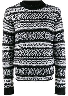 Versace fair isle jumper