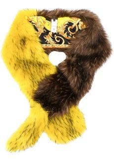 Versace faux fur scarf