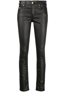 Versace faux leather skinny jeans