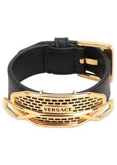 Versace Fender Leather Bracelet