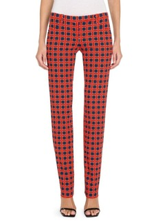 Versace Fire Check Straight Flare Pants