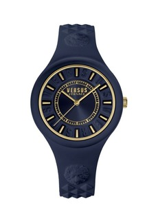 Versace Fire Island Stainless Steel & Silicone-Strap Watch