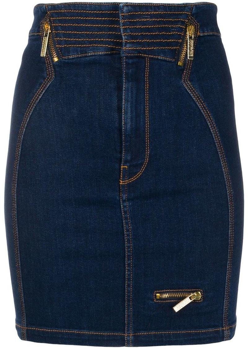 Versace fitted denim skirt