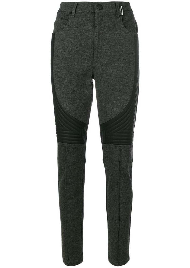 Versace fitted jersey trousers