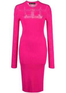 Versace fitted knitted dress