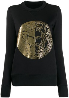 Versace fitted metallic print sweatshirt