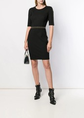Versace fitted studded dress