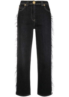 Versace flared cropped jeans