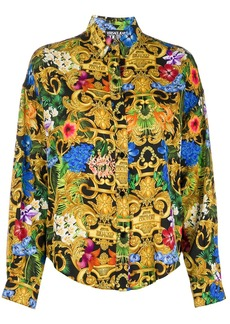 Versace floral baroque digital print shirt