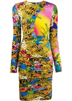 Versace floral baroque dress