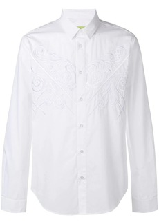 Versace floral embroidered shirt
