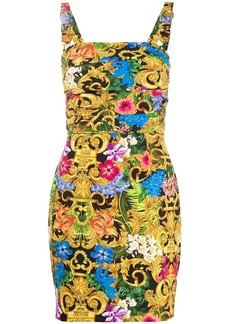 Versace floral-print mini dress