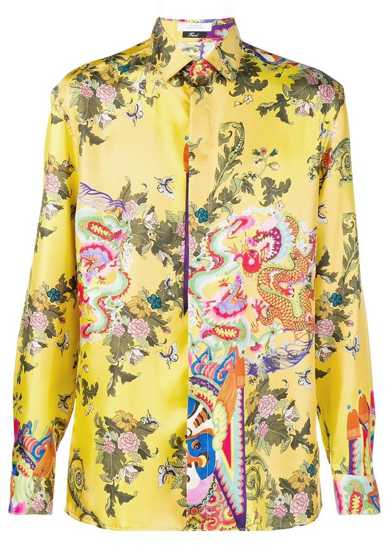 d94c8bd5 Versace floral print shirt   Casual Shirts