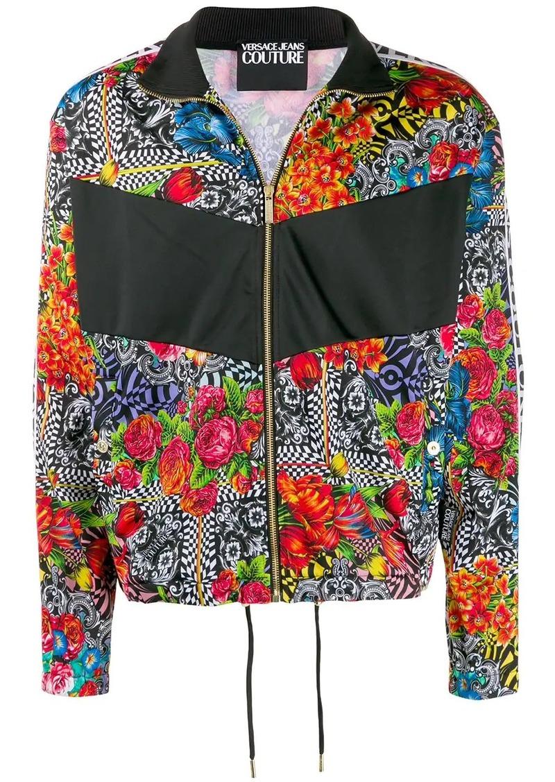 Versace floral print zipped jacket