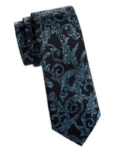 Versace Floral Silk Tie