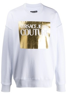 Versace foil logo jumper