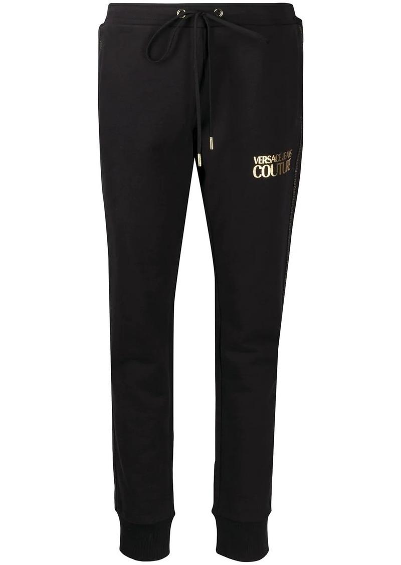 Versace foil logo track pants